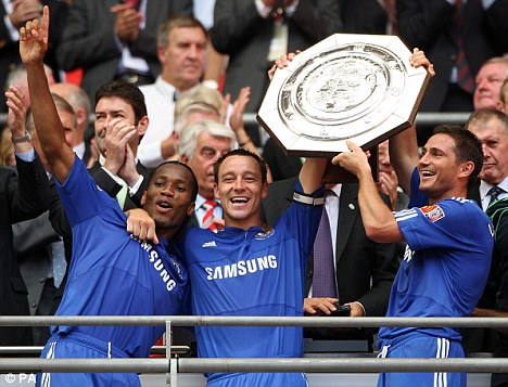 drogba, terry and lampard at chelsea