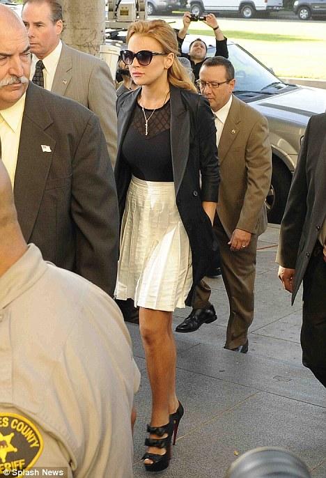 Actress Handcuffed Court