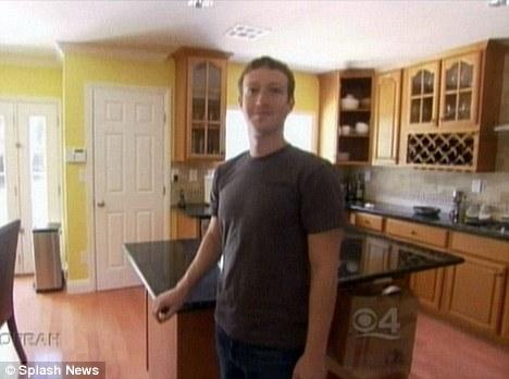 Mr Zuckerberg in the kitchen where he studies Chinese every morning