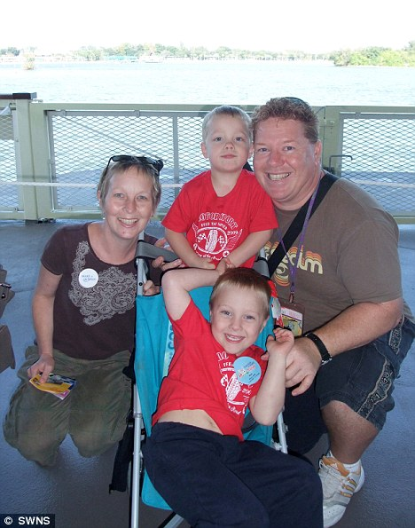 St John and Kate with their sons Reef and Finn on a trip to Disney World, Florida. Kate's 'to'do' list requests that her husband takes the boys there again