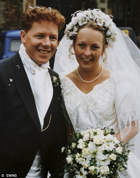 StJohn and Kate on their wedding day in 1996. The devoted mother left a touching 'to do' list of over 100 instructions for raising their two young sons