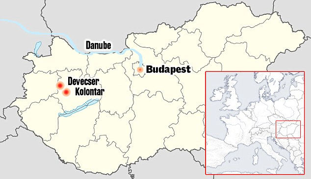 Waterways: This map illustates how the sludge could flow to the Danube from the affected towns of Kolontar and Devecser via the Marcal - several of the Danube's tributaries are underground