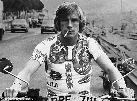 Racing driver James Hunt