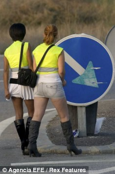 Prostitutes Ordered To Wear Fluorescent Jackets On Spanish Roads Daily Mail Online