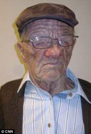 Unbelievable concealment: The passenger as he looked when arrested in Vancouver, and right, how he looked when he boarded the flight in disguise in Hong Kong