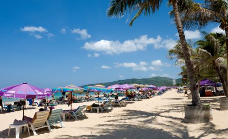 Luxury holiday: A beach on the Thai island of Phuket where the Cameron's are set to go this Christmas