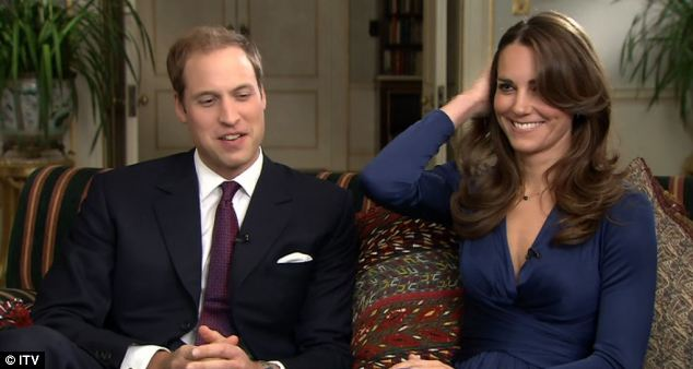 Spotlight: Prince William and Kate Middleton being interviewed at Buckingham Palace last night