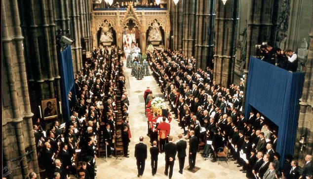 The funeral of Diana, Princess of Wales, was held at Westminster Abbey in 1997