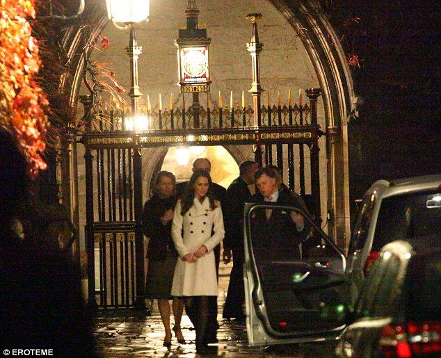 Kate Middleton leaving Westminster Abbey last Wednesday