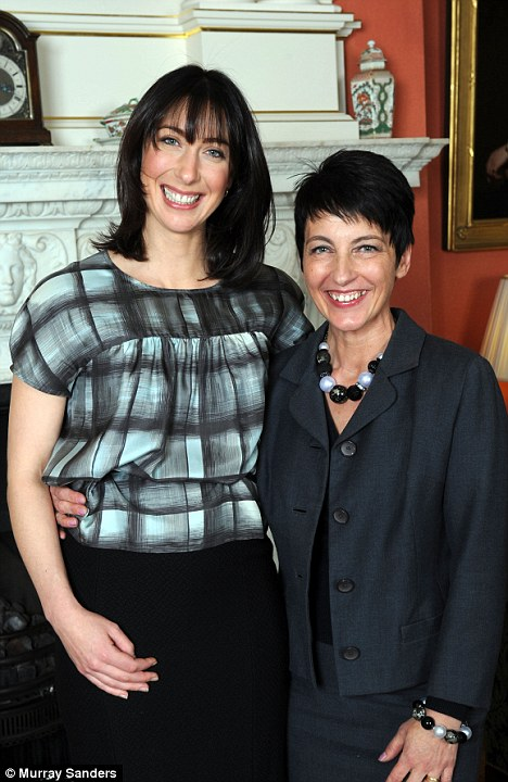 Samantha Cameron with Anna Kennedy at 10 Downing Street where Sam hosted the five finalists to afternoon tea