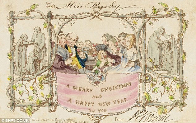 Worlds First Christmas Cards From London 1843 Arrive At