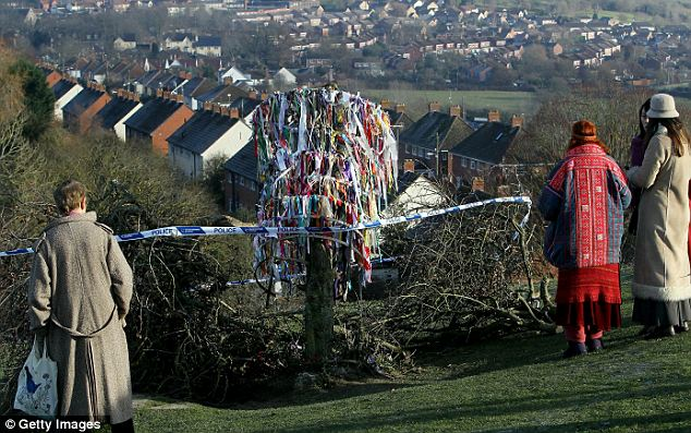 the vandalised holy thorn tree