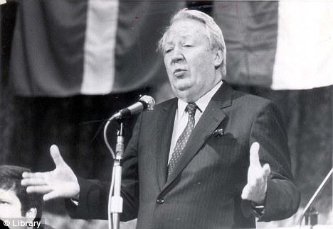 Well connected: Ted Heath, pictured during his glory years, was a friend of Sting and Bob Geldof