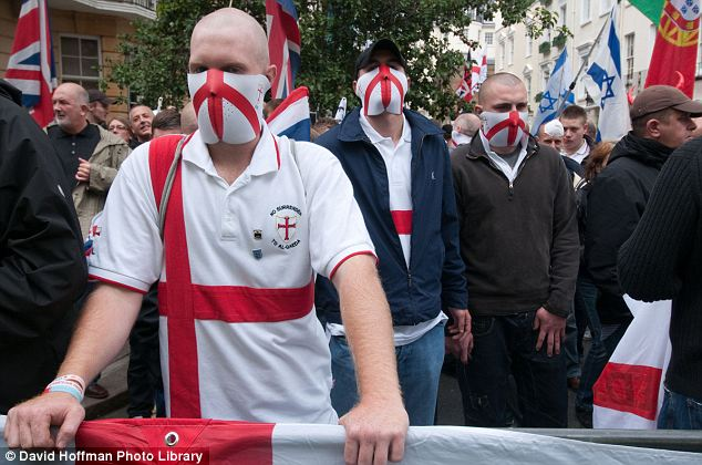Masked menace: The EDL now has almost 40,000 supporters on its Facebook page. A year ago, it had just 1,500
