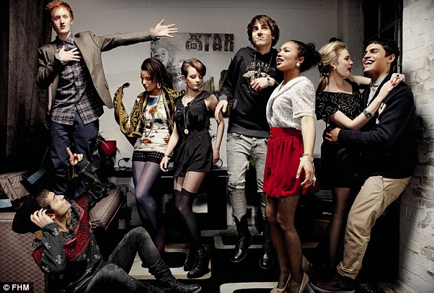 The new cast: (Left to right) Sebastian D Souza, Will Merrick, Layla Lewis, Dakota Blue Richards, Alex Arnold, Jessica Sula, Freya Mavor and Sean Teale
