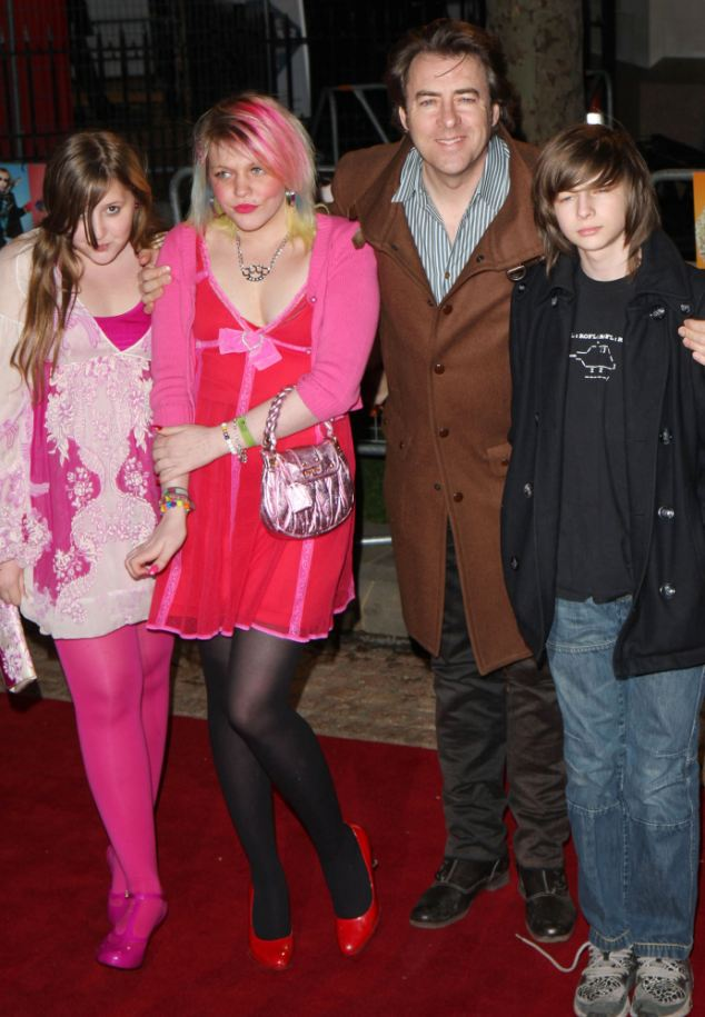 Jonathan Ross with daughters Honey Kinny Betty Kitten and son Harvey Kirby