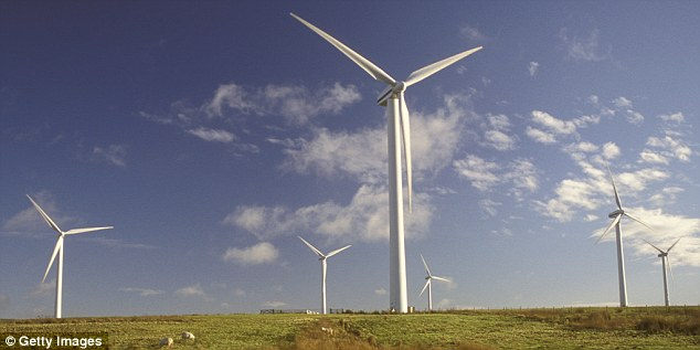 Wind turbines in Dun Law, Scotland