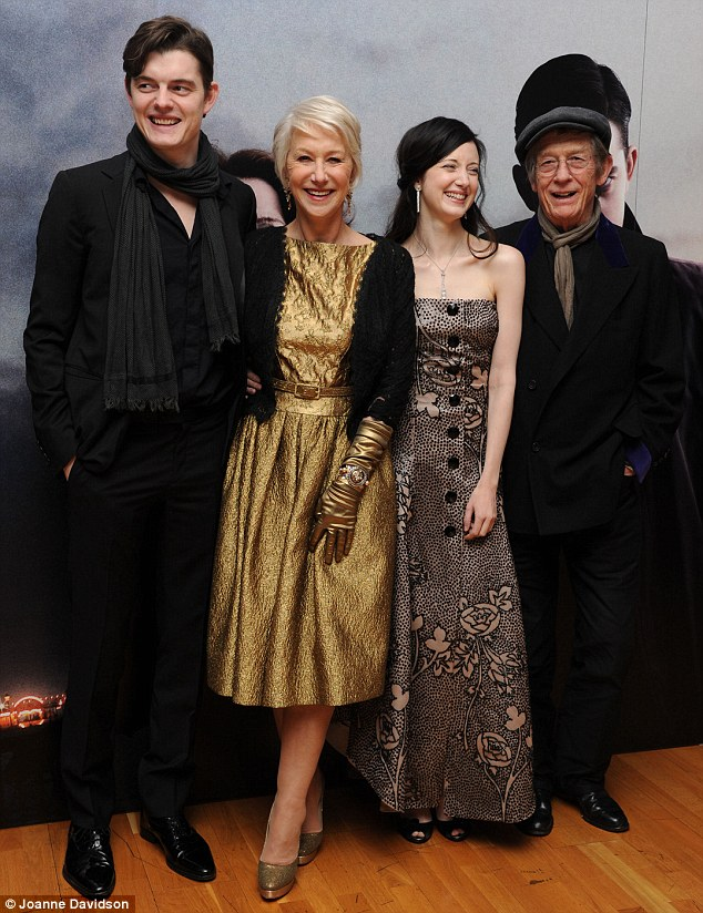 The cast (L-R): Sam Riley, Helen Mirren, Andrea Riseborough and John Hurt