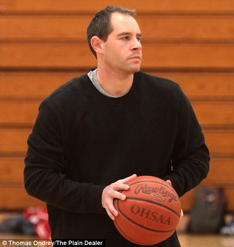 Racist? Head coach Jason Popp in the Richmond Heights High School gym on February 3. He has been suspended after allegedly taunting his black students
