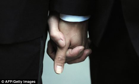 Fury: Same-sex couples will now be able to hold civil ceremonies in churches, sparking a backlash from Christian groups