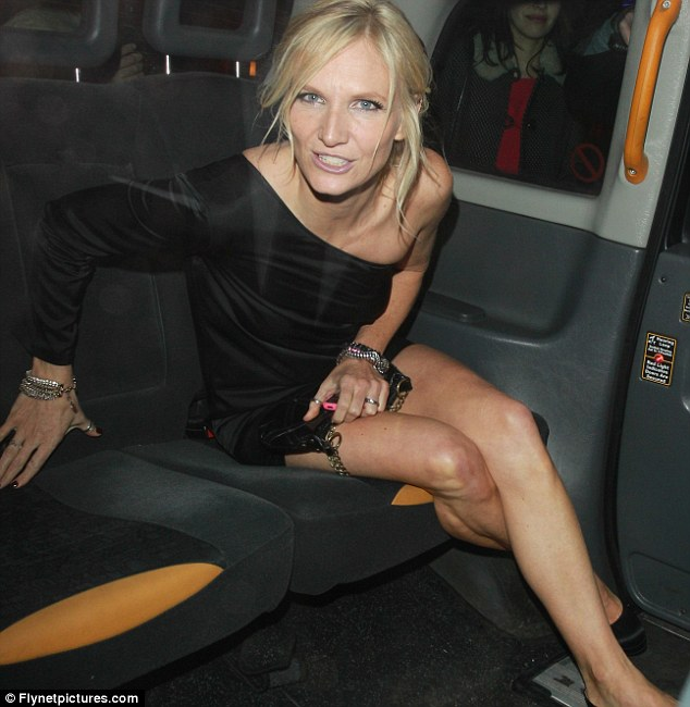 Home time: Radio hose Jo Whiley attended the NME after party at W Hotel but jumped in a cab once she was ready to call it a night