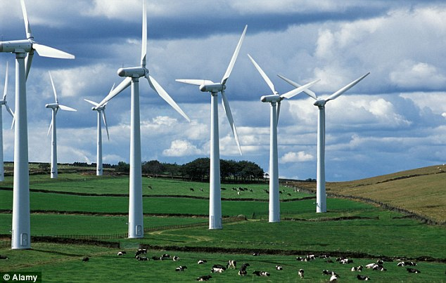 Green and unpleasant land: The wind farm at Ingbirchworth, West Yorkshire, one of the landscapes blighted by turbines