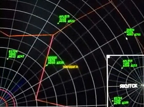 Alien encounter: The UFO is the craft in the centre of the screen closest to the gold writing. In the video the UFO moves comparatively quickly across the radar