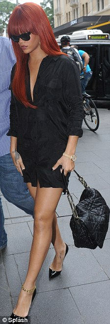 Shopping spree: Rihanna headed out to Pitt St Mall in Sydney during her day off from her Australian Tour