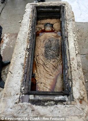 Mummy in coffin