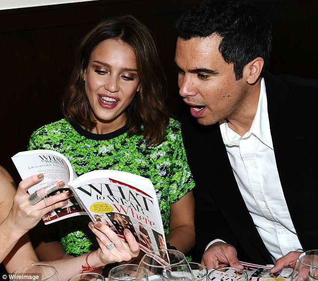 Parents to be: After the craft party Jessica Alba and husband Cash Warren attended The Who What Wear dinner