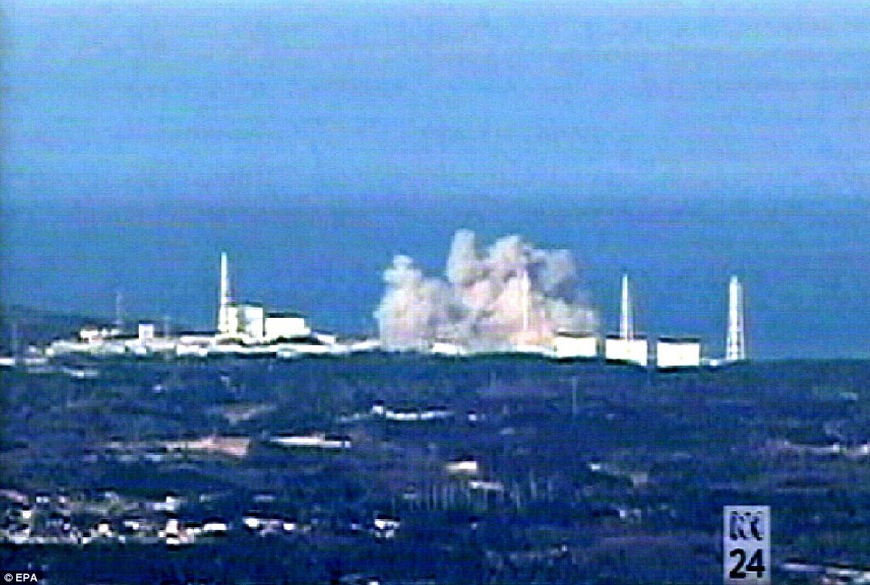 Fight for control: A third explosion rocks the Fukushima Dai-ichi nuclear plant last night where engineers are struggling to avoid a nuclear catastrophe