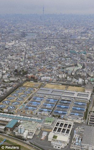 A water purification plant is pictured in Tokyo