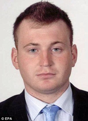Killed: Ronan Kerr, 25, died after a bomb exploded under his car in Omagh, Northern Ireland