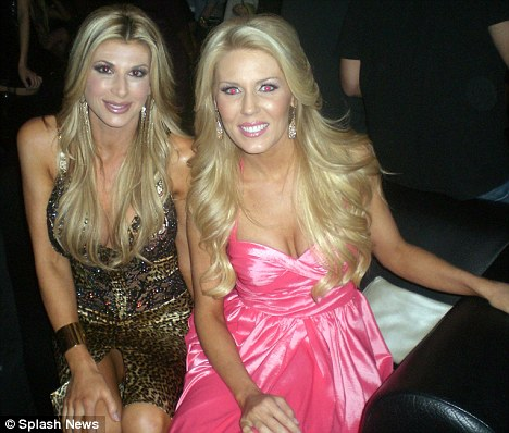 Ready for their close-ups: Real Housewives Of Orange County Alexis Bellino and Gretchen Rossi pose at Star Magazine's All Hollywood Party at Trousdale in Hollywood
