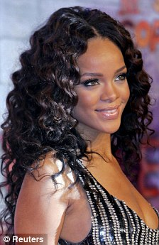 american idol 2011 rihanna goes back to long curly hair ditching her beatles moptop daily