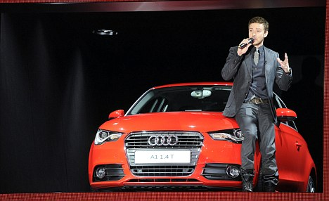 Audi has recruited stars such as singer Justin Timberlake to boost its brand and advertise its A1 model