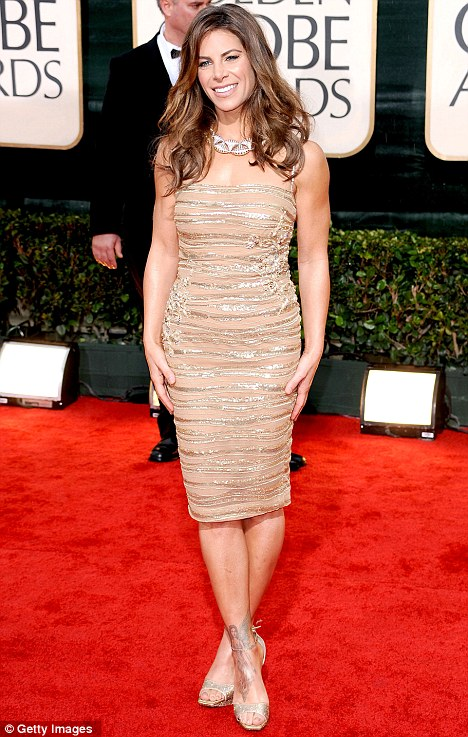 Scrubs up well: Jillian dazzled on the red carpet at this year's Golden Globe Awards in Los Angeles