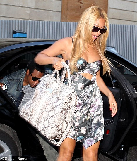 New tresses: Beyonce has gone for a lighter blonde look for the summer