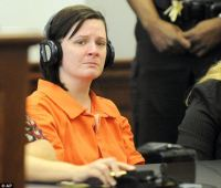 Guilty: Kathy Michelle Coy, seen here last April, pleaded guilty while mentally ill Friday to murdering Jamie Stice in a horrific plot to cut out her unborn baby from her body to claim as her own