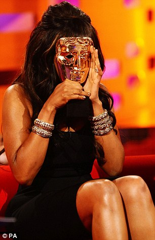 Reunited: Jennifer Hudson was reunited with her Bafta award on The Graham Norton Show five years after it was sent to her in America after she couldn't attend the ceremony