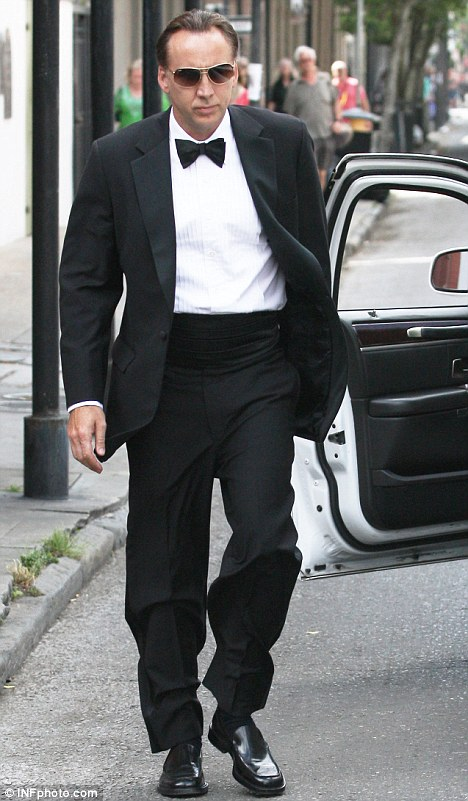 Nicolas Cage Looks Dapper In A Tuxedo As He Heads To Son