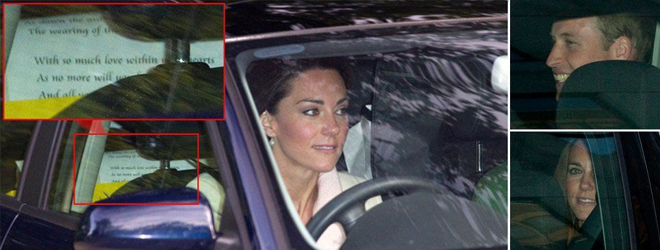 Kate Middleton, Prince William going to rehearsal and picture of vows