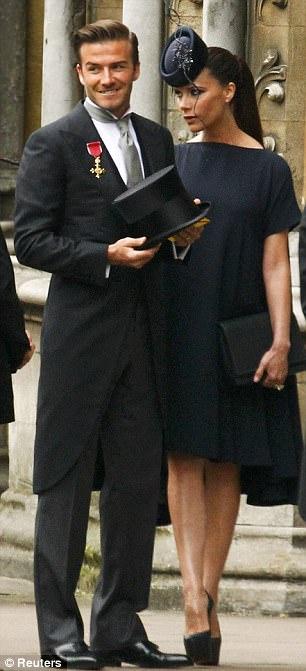Royal Wedding Victoria Beckham Wears Minimalistic Navy To