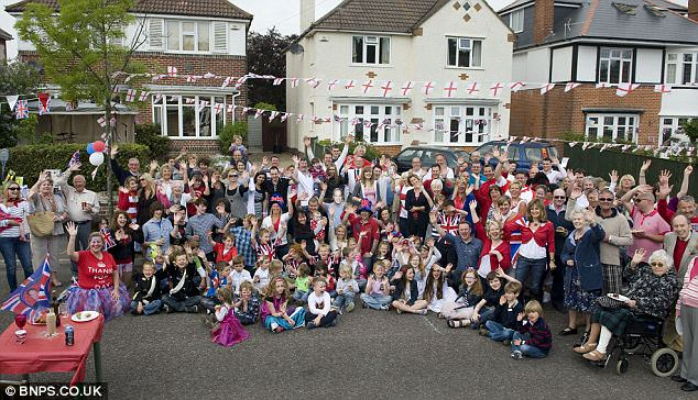 The residents of Meon Road in Bournemouth, Dorset, celebrate the marriage of Wills and Kate today with a grand street party of their own. Theirs is one of many in the town