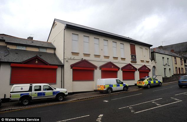 Officers were carrying out an investigation nearby when they got a whiff of the secret factory and followed their noses to a disused nightclub at Merthyr Tydfil, South Wales (pictured)