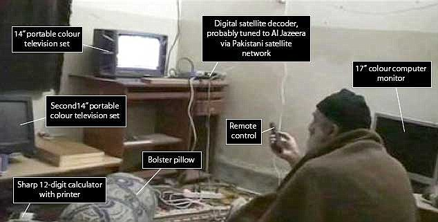 Image result for bin laden watching tv