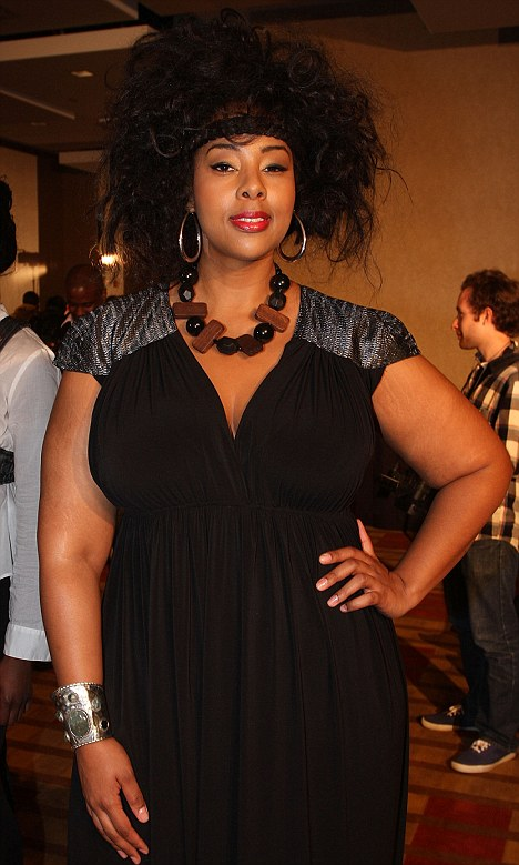 Sad: Plus size supermodel Mia Amber Davis has died at 36, a day after undergoing a routine knee surgery