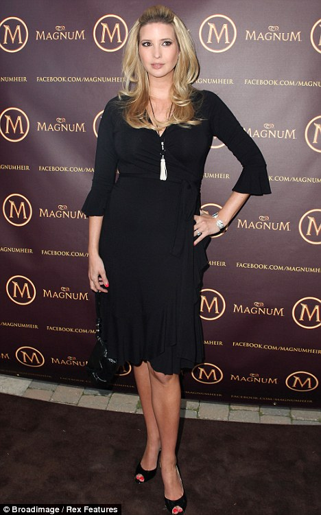 Craving: Ivanka Trump touched down in Toronto yesterday to promote the launch of Magnum Ice Creams in Canada