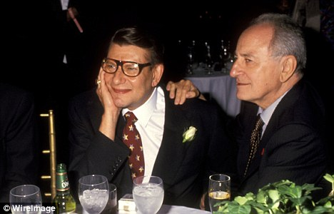 Amour Fou: Yves Saint Laurent, left, pictured with his lover Pierre Bergé, was battling drug and alcohol addiction<br>