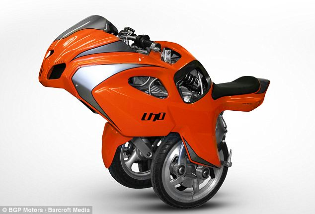Transformers: The electric-powered Uno III Streetbike - or U3 - can convert itself with the push of a button from a conventional motorbike to unicycle-style machine